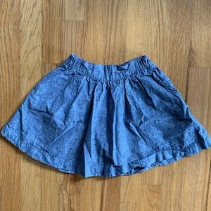 Tea Collection girls blue denim like skirt size 6